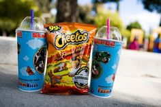 hot cheetos + blue slurpee = the ultimate in taste unification