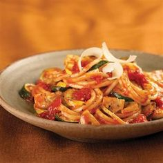 Mediterranean Herb Pasta with Vegetables and Tomatoes
