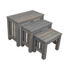CRAFTSMEN - Solid Nesting Tables Display Set for Stores - Custom Stained Free!