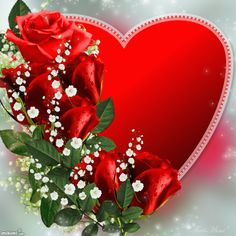 To my dear Joe♡♡♡.to day l need more than other days,Love Doris♡. Beautiful Love Pictures, Beautiful Gif, Heart Pictures, Heart Images, Beautiful Rose Flowers, Love Flowers, Valentine Day Love, Vintage Valentines, Coeur Gif