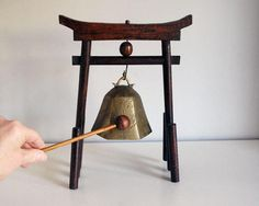 Chinese Brass Bell 1930s Dinner Gong Chinoiserie by CalloohCallay