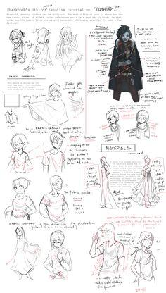 Clothing Tutorial (Notes) by shark-bomb.deviantart.com on @deviantART