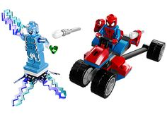 Take on Electro with Spider-Man and the fearsome new Spider-Trike!