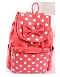 cute backpacks for teens pink dots