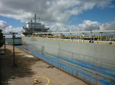 Great Lakes freighter up close