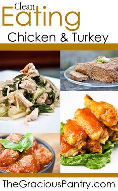 Clean Eating Chicken and Turkey Recipes. A whole cookbook of clean eating recipes definitely useful! Healthy Cooking, Healthy Snacks, Healthy Eating, Cooking Recipes, Healthy Recipes, Cooking Tips, Healthy Options, Delicious Recipes, Diet Recipes