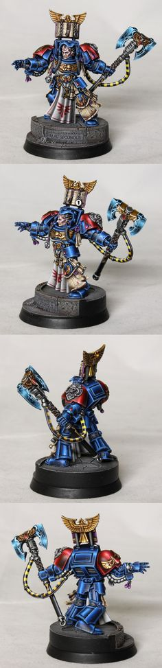 CoolMiniOrNot - Blood Angels Terminator Librarian by glazed over