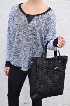 Laila Jayde Scoop Neck Top | M, L, XL 70% Cotton, 30% Poly | Primary View | Tangerine Boutique