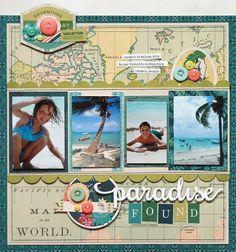 Paradise Found layout by Lisa Dickinson - BasicGrey