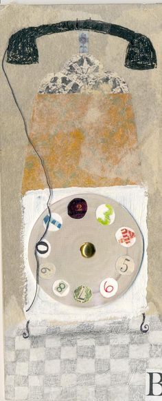 Oscar Sabini | telephone collage Yes - a telephone can be the subject for a portrait