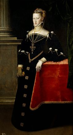 António Moro - Maria of Austria, Holy Roman Empress, Queen Consort of Germany, Bohemia and Hungary, spouse of Maximilian II, Holy Roman Emperor