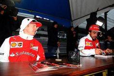 """Raikkonen:""""So I finally wore you down Alonso! Is that why you're not coming back!"""""""