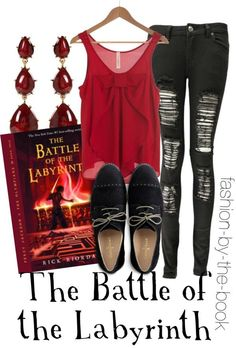 Outfit inspired by The Battle of the Labyrinth by Rick Riordan (Percy Jackson & the Olympians series):