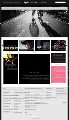 The website of Rapha
