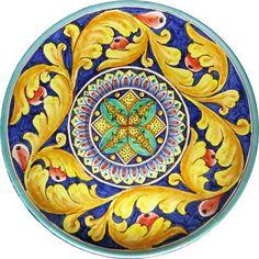 "Items similar to Wall Plate ""Rinascimento"". Italian Pottery on Etsy Ceramic Painting, Ceramic Art, Ceramic Plates, Talavera Pottery, Ceramic Pottery, Pottery Plates, Italian Pottery, Tuscan Decorating, Pottery Designs"