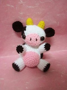 Free Crochet Christmas Ornament Patterns | COW CROCHET HAT PATTERN – Crochet — Learn How to Crochet