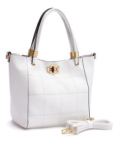 Another great find on #zulily! White Patchwork Tote #zulilyfinds