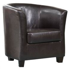 Cambridgeshire Deluxe Bonded Leather Tub Chair