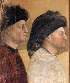 Annunciation to Zacharias (detail) 1435 | Baptistery, Castiglione Olona | Masolino da Panicale