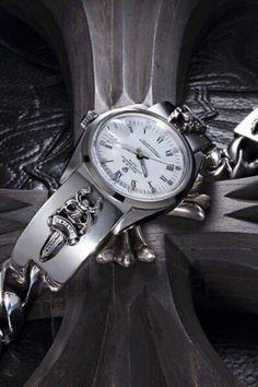 8202d6571021 Rolex x Chrome Hearts Dagger Sterling Silver Bracelet (white face)