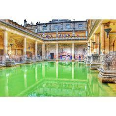The Roman Baths of Bath, England. Photo courtesy of oneperfectshot on Instagram.