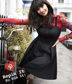 Repin for your chance to #WIN the JAM by Jameela Jamil Pinaforehttp://www.very.co.uk/jameela-jamil-ponteroma-pinefore-dress/1109645290.prd x