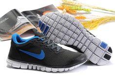 Nike Free 3.0 Hommes gray carbone SkyBleu{6NZS7S} 1