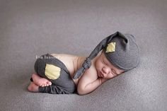 Newborn Photography Prop - Newborn Stocking Hat & Pants - Grey Yellow Prop Set - Baby Boy Prop Set - Baby Girl Prop Set by snugglywunkins on Etsy https://www.etsy.com/listing/218124147/newborn-photography-prop-newborn