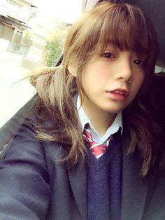 Beautiful Japanese Girl, Japanese Beauty, Cute Asian Girls, Cute Girls, What Makes U Beautiful, Girls Uniforms, Face Hair, Kawaii Cute, Cute Faces