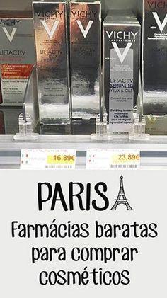 Farmácias baratas para comprar cosméticos em Paris