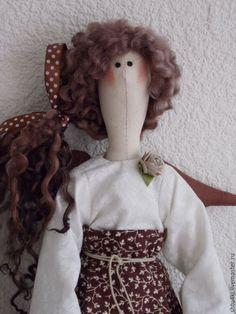 Купить Кофеечка (4) - коричневый, подарок на любой случай, кукла интерьерная, кукла текстильная