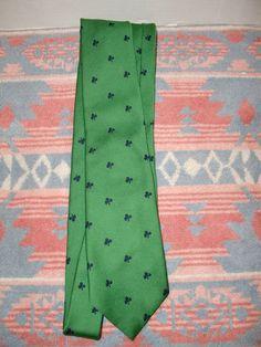 Vintage Irish Shamrock Green Men's Tie Rumson Roulette Celtic St Patrick's Day | eBay