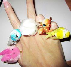 Kawaii Rings - Kitsch & Cute Handmade Rings, via Etsy.