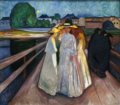 Via la-belle-epoche: Edvard Munch (Norwegian, 1863-1944) På broen (On the bridge), 1903 Oil on canvas Thielska Galleriet, Stockholm Nordlys
