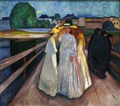 Via la-belle-epoche: Edvard Munch (Norwegian, 1863-1944) På broen (On the bridge), 1903 Oil on canvas Thielska Galleriet, Stockholm Nordlys