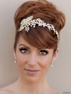 Wedding Hair Updo With Headband 2016-2017 – 24Fashion