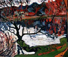 Pond at Ursine near Chaville, 1905, Maurice de Vlaminck