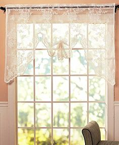 lace valance curtains ivory Swag Curtains, Drop Cloth Curtains, Gold Curtains, Burlap Curtains, Nursery Curtains, Hanging Curtains, Floral Curtains, Roman Curtains, French Curtains