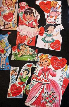 Girlish valentines from the 70s. Wonder if they still make these? Loved them.