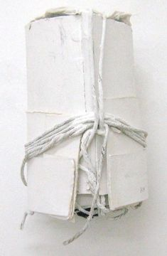 white package tied up with string