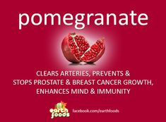 POMEGRANATE - Healing power of plants and Earth foods. Raw food, juicing, recipes, superfoods, herbs, natural, healing, & remedies.
