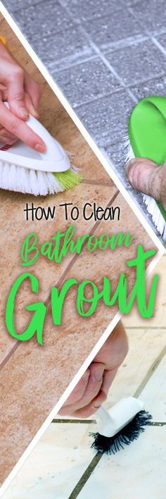 Restoring dingy tile grout to like-new brightness doesn't require harsh chemicals like bleach, ammonia or vinegar, which can damage your grout and create more problems than they solve. Even a steel bristle scrub brush can work against you, scratching and damaging surfaces. This will invite stains and dullness, and lead to the diminished appeal of your flooring. Deep Cleaning Schedule, House Cleaning Checklist, Deep Cleaning Tips, Cleaning Hacks, Cleaning Bathroom Tiles, Diy Household Tips, Tile Grout, Grout Cleaner, Clean House