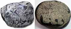 The depictions of #dinosaurs on these Ica stones appear unmistakable. #AncientAliens #ufo