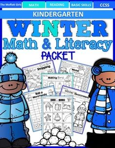 This Winter Math and Literacy Packet has it all and requires NO PREP! The resources in this packet are designed to meet Common Core Standards for Kindergarten while making learning fun, hands-on and interactive!