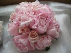 Pink roses and peonies, good shaped bunch