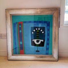 David Martin, 'Blue Still Life with Bird' looking striking #davidmartin #blue #painting