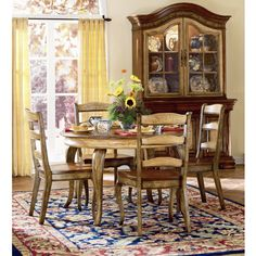 Have to have it. Hooker Furniture Vineyard 5 Piece Round Dining Table Set - $1334.01 @hayneedle