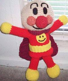 This is my original pattern and I am happy to share it with everyone. All the info you'll need during the construction of your Anpanman is included on my blog post with the pattern. All I ask is that you do not re-post the pattern anywhere else on the net as your own, and if you do use my pattern and post your end result on your own blog, please do link to my page so that others can try it out for themselves ^_^