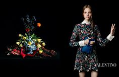 Campañas publicitarias moda otoño invierno 2013 2014 - laura kampman - valentino - inez vinoodh