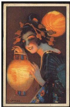La Femme en illustration. La Carte Postale Anciennne par Cartofolia